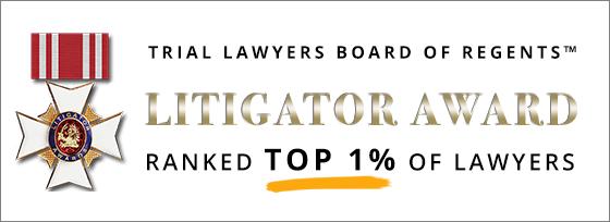Trial Lawyers Board of Regents Litigator Award